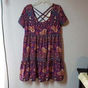 L.A. Hearts Floral Tiered Babydoll Dress